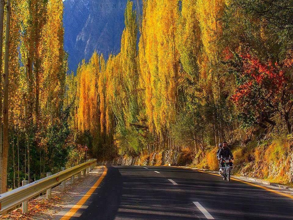 autumn in hunza valley pictures